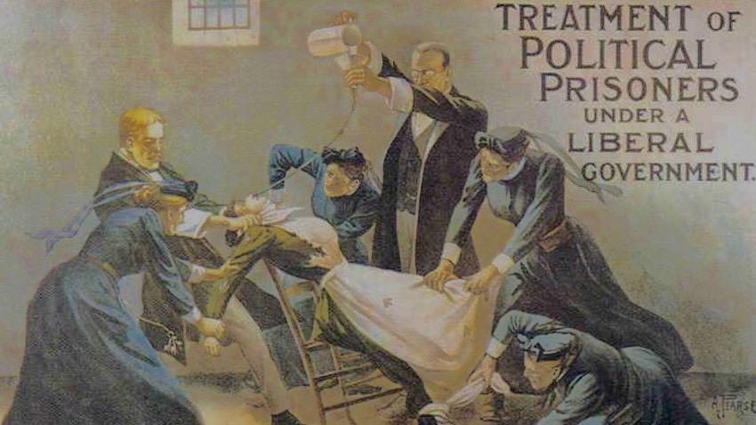 Suffragetter tvångsmatas