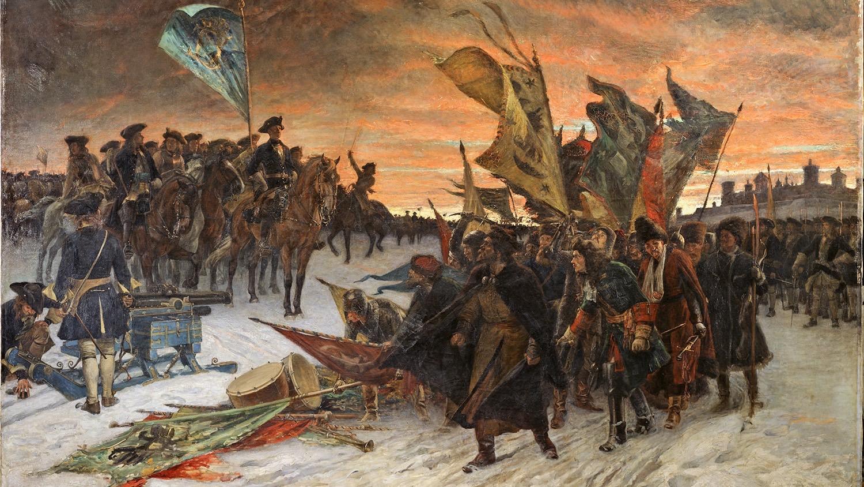 Ryska krigsfångar vid slaget vid Narva