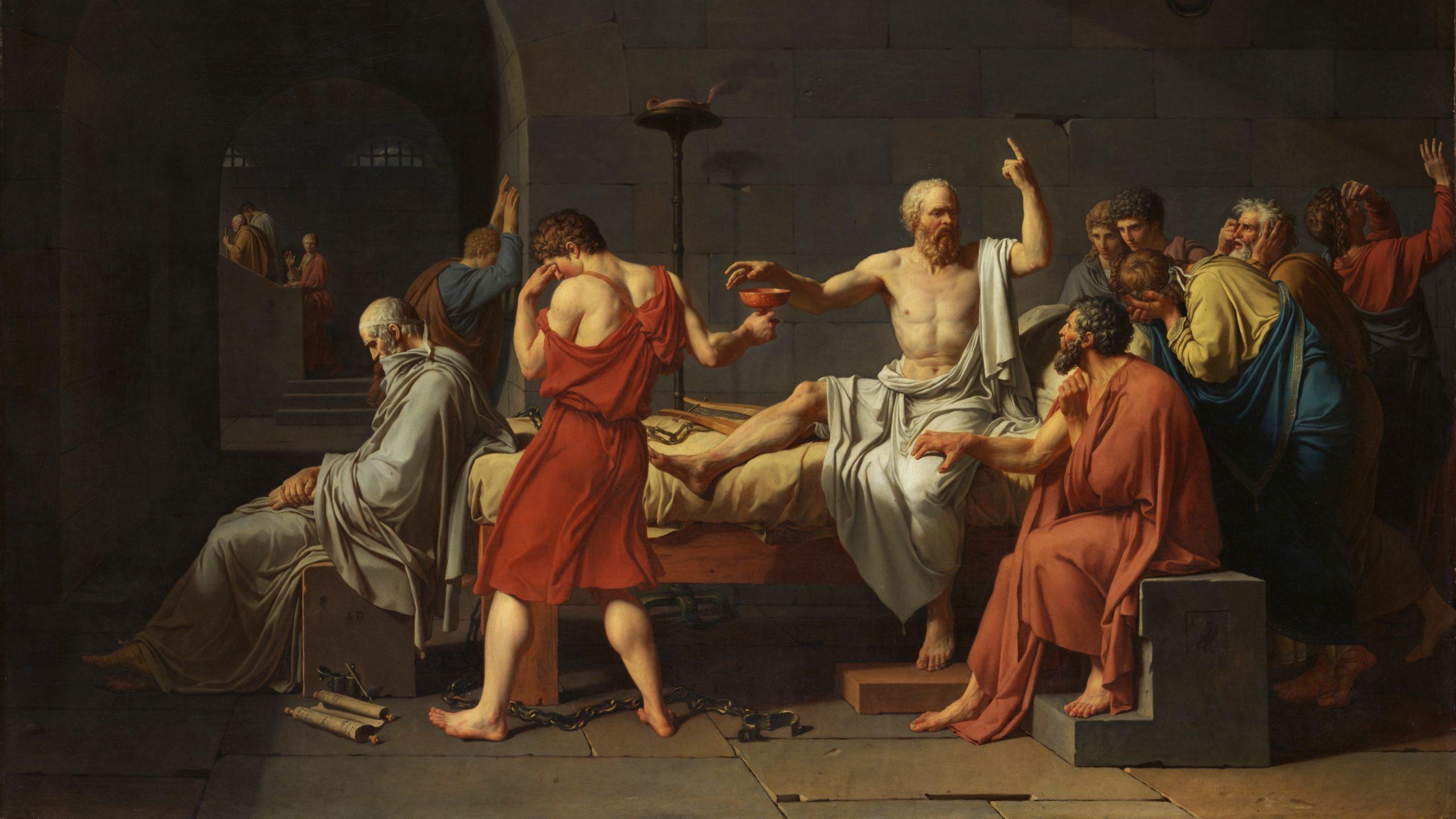 Giftavrättningen av Sokrates