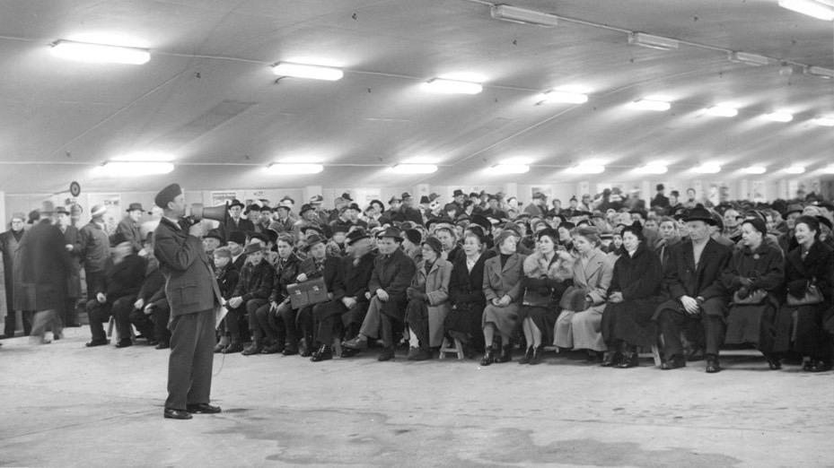 Civilförsvarsövning i Stockholm 1957