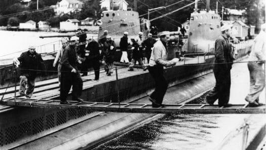 Polska ubåtsmän internerade i Vaxholm 1939
