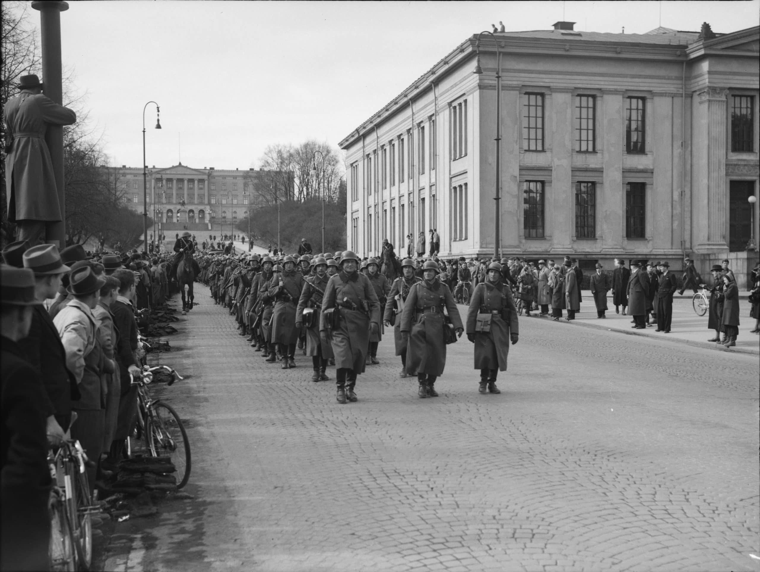 Tysk segerparad i Oslo 1940