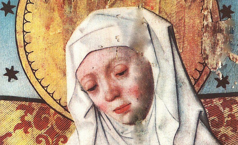 Heliga Birgitta på ett altarskåp i Salems kyrka, Södermanland