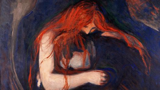 Vampyren av Edward Munch