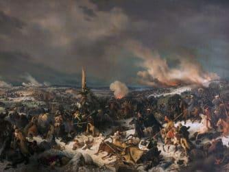 Korsandet av floden Berezina under Napoleons fälttåg i Ryssland 1812.