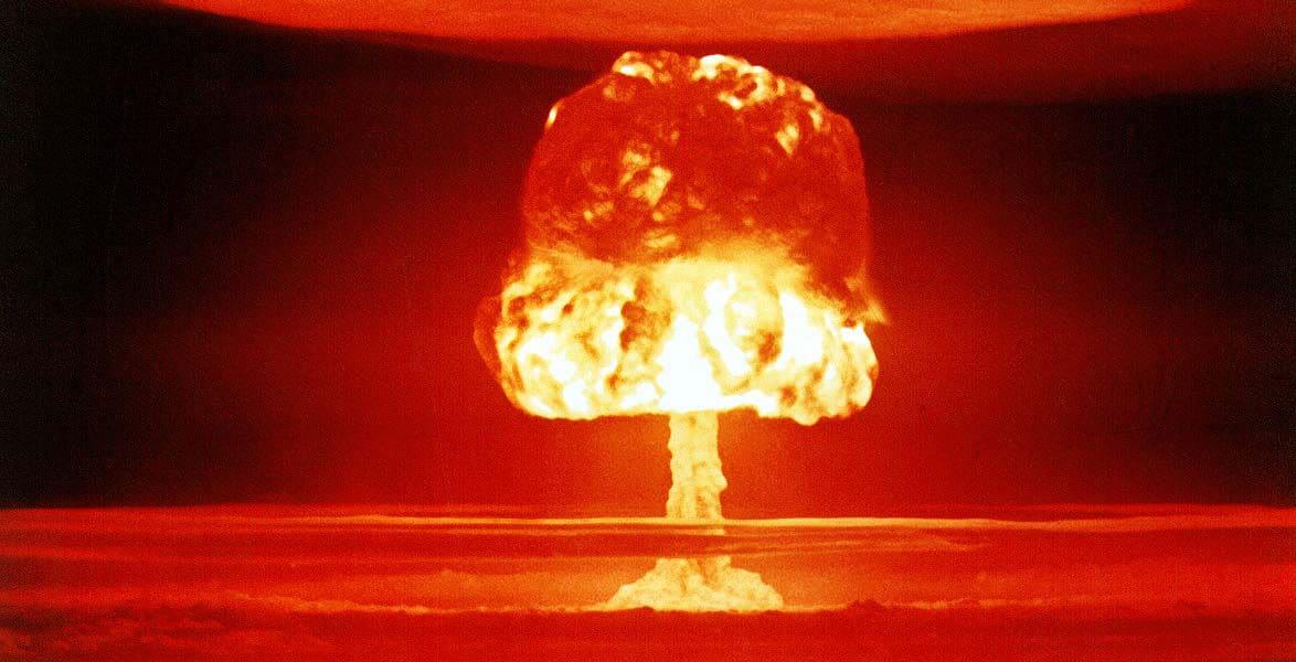 USA:s provsprängning av vätebomben Castle Romeo på Bikiniatollen.